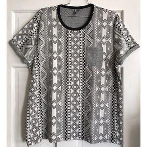 MENS ASOS Printed Knit Pullover